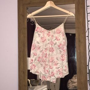 Tops - American eagle Pink floral tank top
